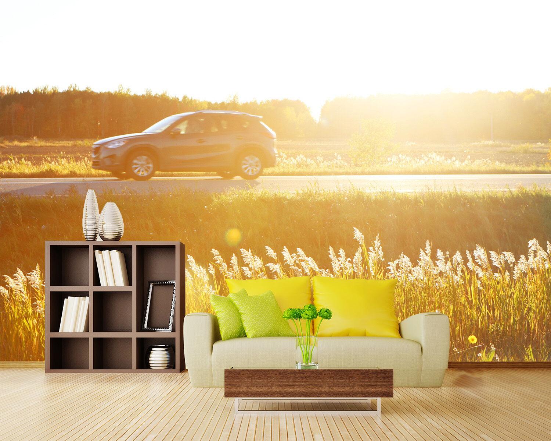 3D Road, car 233 Wand Papier Wand Drucken Decal Wand Deco Innen Wand Murals