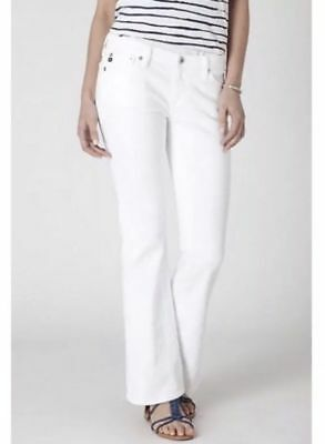 NWT Adriano Goldschmied The Angelina Petite Bootcut Jeans in White
