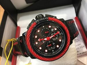 24440-Invicta-Bolt-Mens-52mm-Quartz-Chronograph-Black-Dial-Leather-Strap-Watch