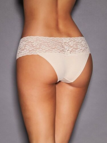 Women/'s Cotton and Lace Bikini Frederick/'s of Hollywood