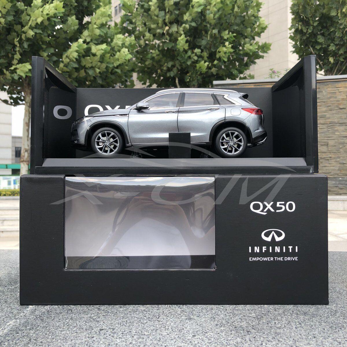 Diecast Car Model Keng Fai Dong Feng Infiniti New QX50 1 18 (Grey) + GIFT