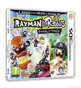 JUEGO-NINTENDO-3DS-RAYMAN-AND-RABBIDS-FAMILY-PACK-CASTELLANO-Y-PRECINTADO