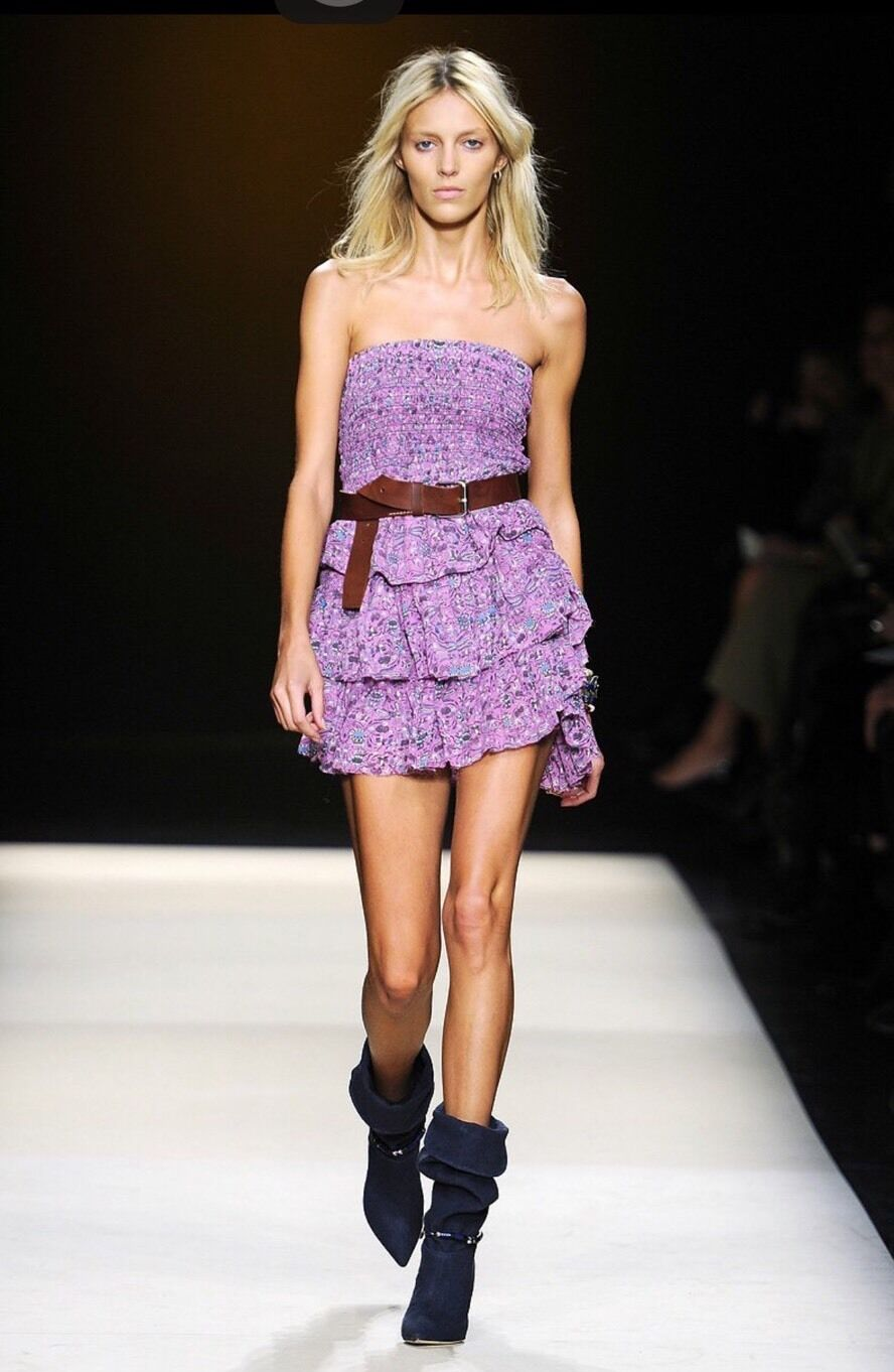 Authentic Isabel Marant Mainline LIDO Liberty Print Runway Dress Size 0 RARE