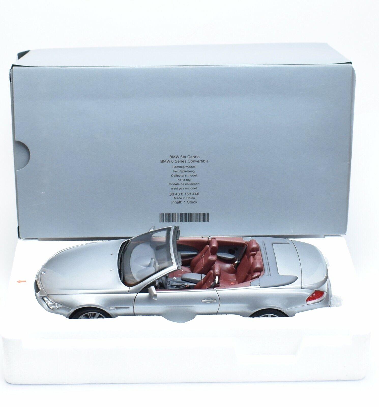 oferta de tienda Kyosho 80430153440 bmw 6er cabriolet en gris plata lacados, lacados, lacados, 1 18, embalaje original, k006  calidad de primera clase