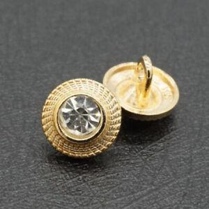 10pcs Gold Flower Metal Shank Buttons Coat Shirt Sewing Embellishment 10mm DIY