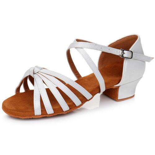 Women Girls Child Ballroom Latin Tango Dance Shoes Heeled Salsa Dancing Shoes