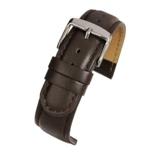 18mm-20mm-BROWN-PADDED-EXTRA-LONG-Leather-Watch-Strap