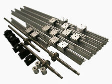 3 Sets SBR20-300/800/1000mm rails + 3 RM1204 ballscrew + BK/BF10 & coupling