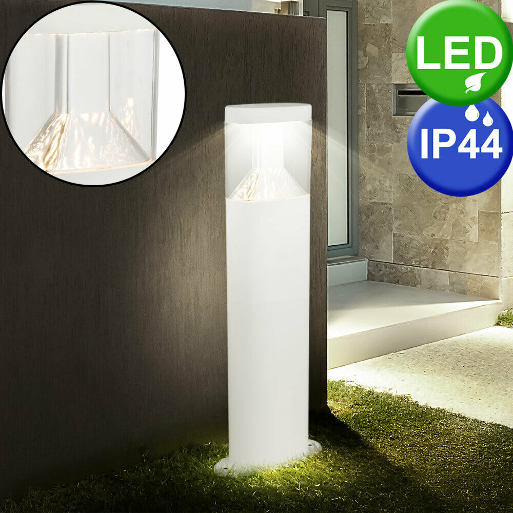 Design LED sur Pied Lampe Jardin Route Embase Inox Extérieur Éclairage blanco