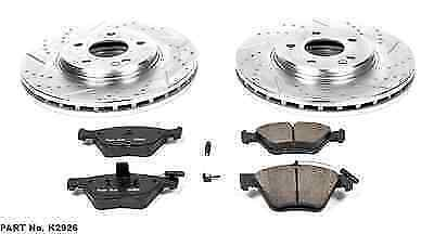 Power Stop K2785 Front and Rear Z23 Evolution Brake Kit with Drilled//Slotted Rotors and Ceramic Brake Pads