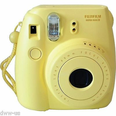 NEW Fuji Instax Mini 8 Polaroid Camera Yellow - Fujifilm 16273441 *USA* + gift