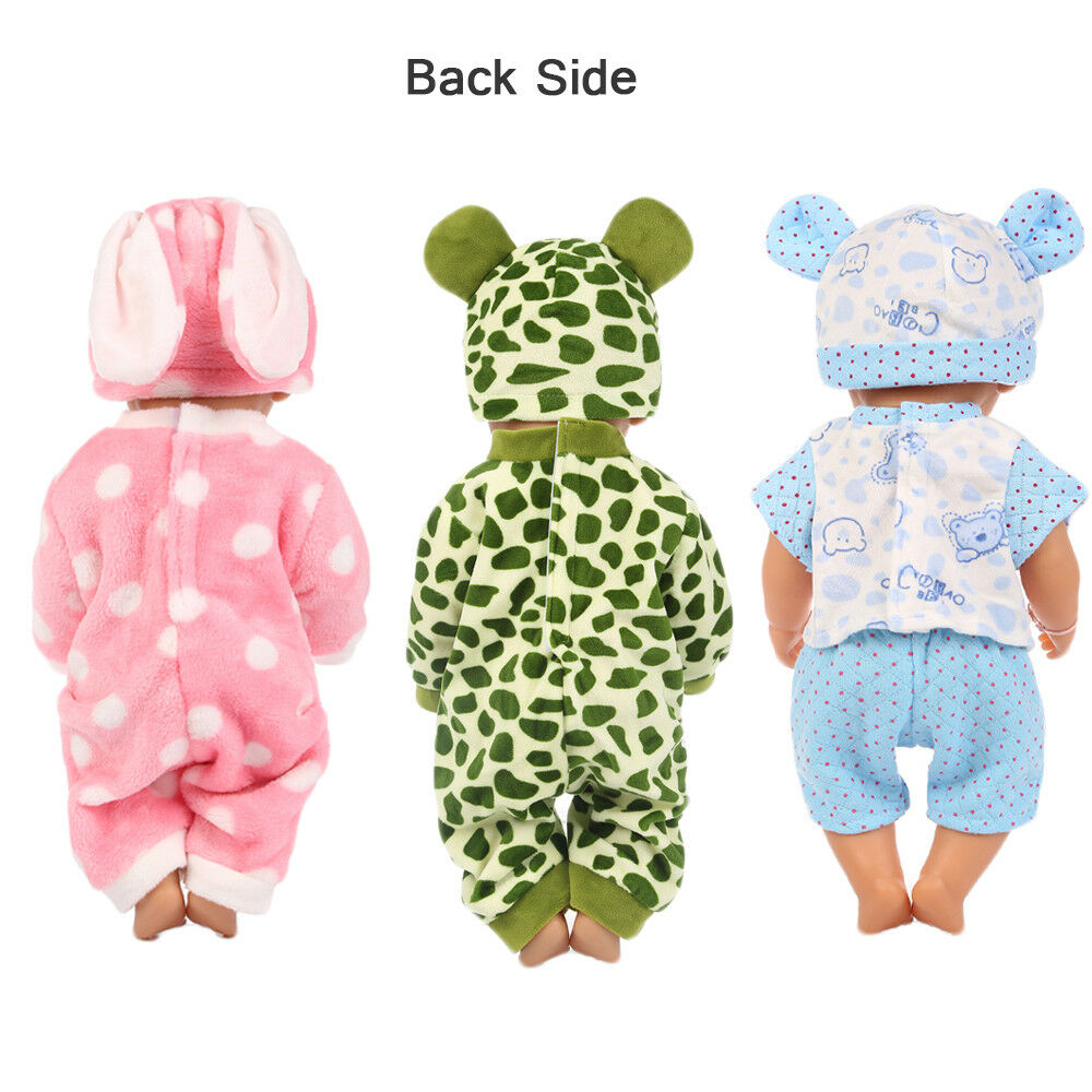 Baby Born Doll Clothes Fit 17inch Zapf Dolls Sleeping Jumpsuit Suit Doll Pajamas 7