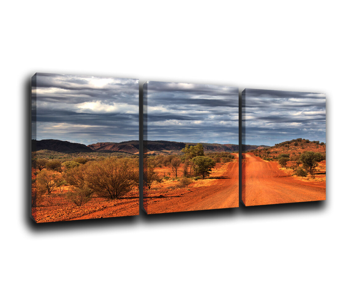 Australia Landscape Canvas Treble Wall Art Print Picture 4