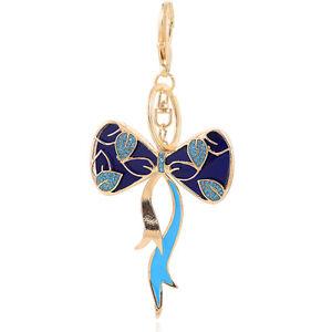 Handbag-Buckle-Charms-Accessories-Dark-Blue-Bow-Knot-Keyrings-Key-Chains-HK108