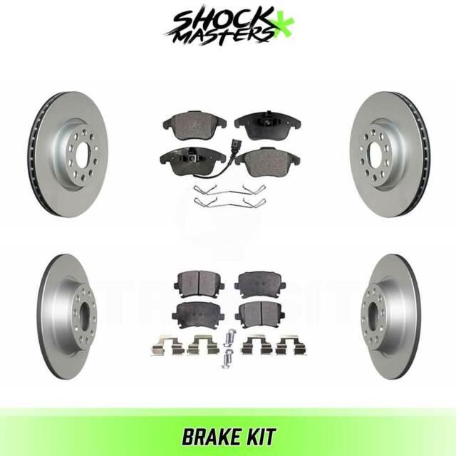 Front G-Coated Rotor /& Ceramic Brake Pads for 2014-2017 Honda Fit