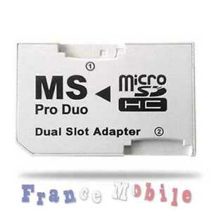 Adapteur Double Micro Sd To Memory Stick Pro Duo Psp Tmkmbdso-07180330-113757654
