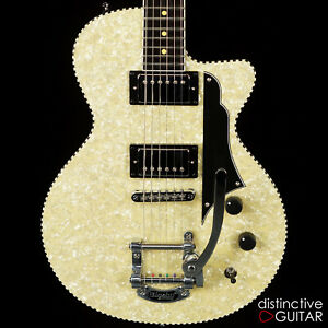 NEW REVEREND RICK VITO SIGNATURE GUITAR SOUL SHAKER IVORY PEARLOID W/ BIGSBY