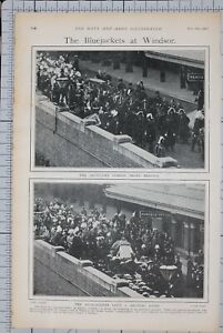 1901-PRINT-BLUEJACKETS-AT-WINDSOR-ARTILLERY-HORSES-PROVE-RESTIVE-NAVAL-FUNERAL