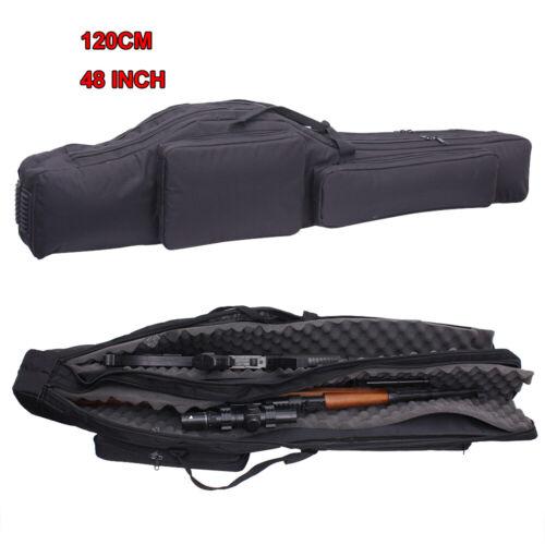 Tactical 48 in Dual Layers Gun Gewehr Tasche verstärkter Rucksack für 2 Shotgun