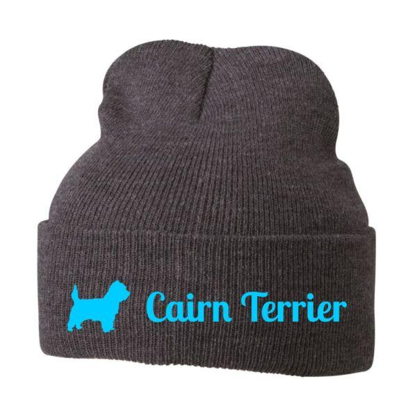 100% Verdadero Beanie Gorro Chulo Gorro Stick Motivo Cairn Terrier Perros Siviwonder-ver