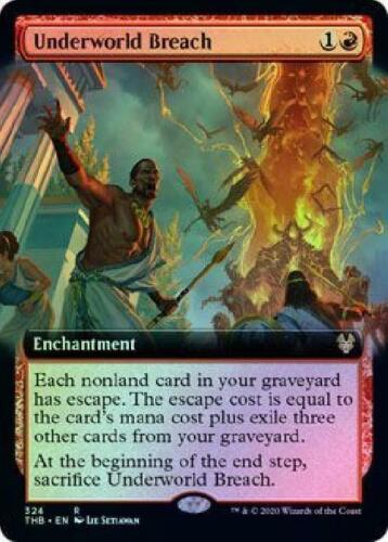 Underworld Breach 324//254 Extended Art Borderless Foil Promo Near Mint