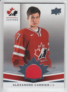 2014-15-UD-CANADA-JUNIORS-ALEX-CARRIER-GAME-JERSEY-152-GAME-USED-Upper-Deck