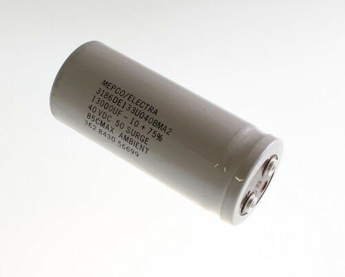 PHILIPS 13000uF 40V Large Can Electrolytic Capacitor 3186DE133U040BMA2