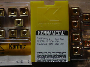 10-pcs-SNMG-432-Kennametal-KC850-Carbide-Inserts