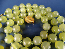 Alte Jade Kette Collier 52,5g • 62 cm Jadeite Necklace (Grade A) China 1930s #5