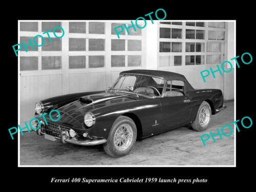 8x6 HISTORIC PHOTO OF FERRARI 400 SUPERAMERICA 1962 CABRIOLET PRESS PHOTO 1
