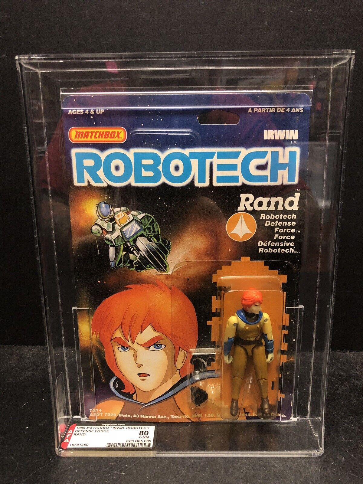 Vintage 1986 Matchbox Irwin Robotech Rand AFA 80 Y-NM ATL0864
