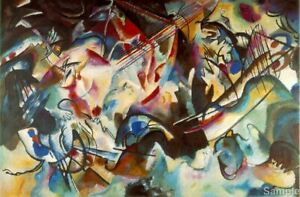 WASSILY KANDINSKY RUSSIAN ABSTRACT OLD MASTER ART PAINTING PRINT POSTER 3045OMLV