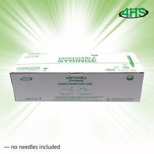 Syringes 10cc Luer Slip Sterile 100/bx No Needle AH10S