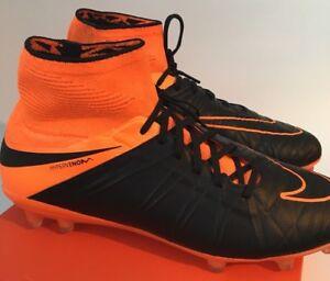 Dettagli su Nike HYPERVENOM PHANTOM II FG Scarpe da calcio arancione nero 747501 008 UK 9.5 RARA mostra il titolo originale