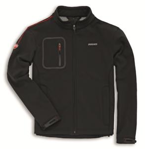 Ducati-Windproof-Windstopper-Jacke-Schwarz-mit-roten-Ziernaehten-Groesse-M