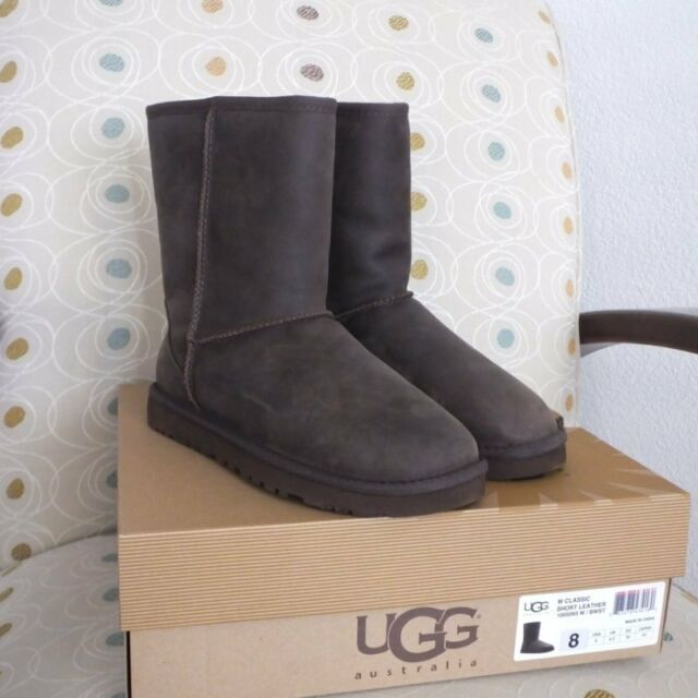 65ae12b3692 100 Authentic UGG Australia W Classic Short Leather BOOTS 1005093 BWST Sz 8