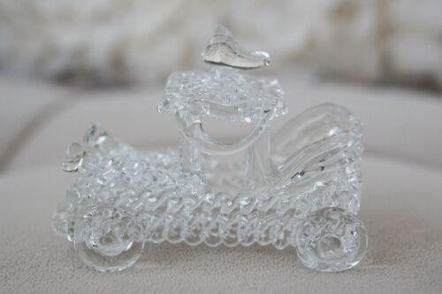 High Quality Vintage Hand Blown Glass Classic Car Retro Figurine Vehicle