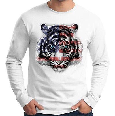 Velocitee Mens Long Sleeve T-Shirt American Mother Road Biker Harley W13680