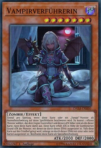 Vampire Tentatrice DASA-de050 SUPER RARE Yu-Gi-Oh de Presque comme neuf