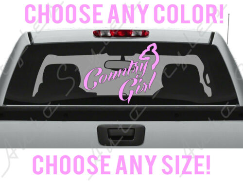 Country Deer Girl Any Size Color Hunting Car Truck Decal Vinyl Sticker Custom