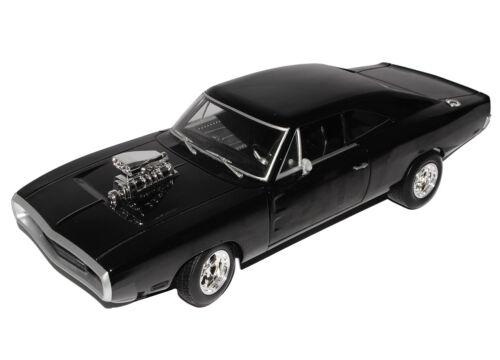 Dodge cargador RT Coupe negro 1970 el rápido y el furioso Mattel 1//18 hot w..