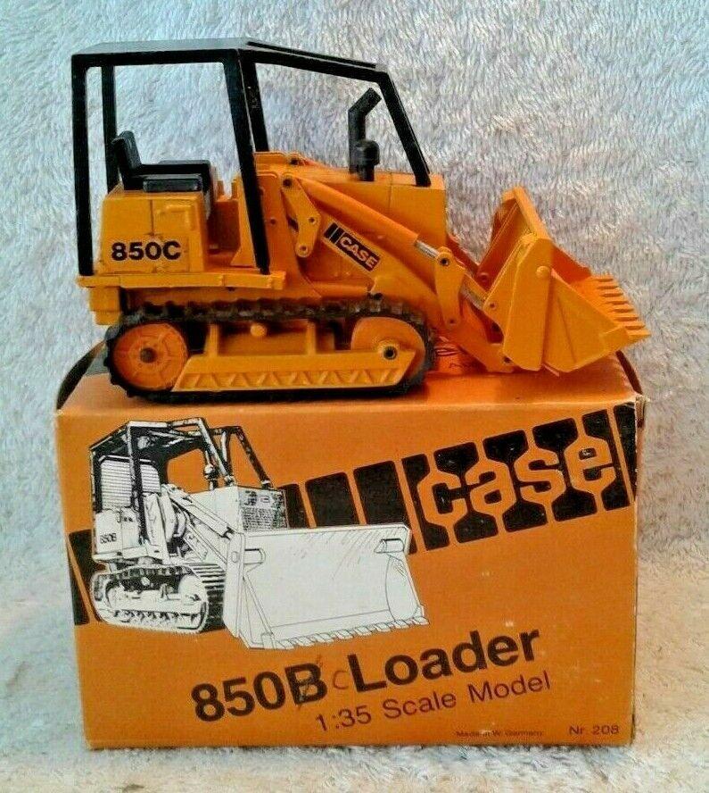 Case 850C Tractor Con Cochegadora oruga Rops 1 35 NZG 136 de Alemania 208 W 850B Caja