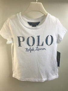 Ralph Lauren Girls Polo Cotton Jersey Graphic Logo Tee T-shirt 3 3T ... 351b394f5
