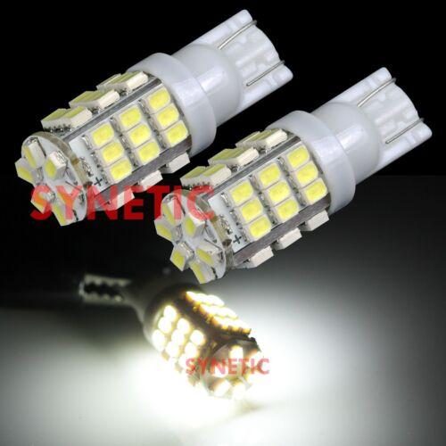 4x T10//168 192 RV Trailer Interior Backup Reverse White LED Light Bulbs 42 SMD