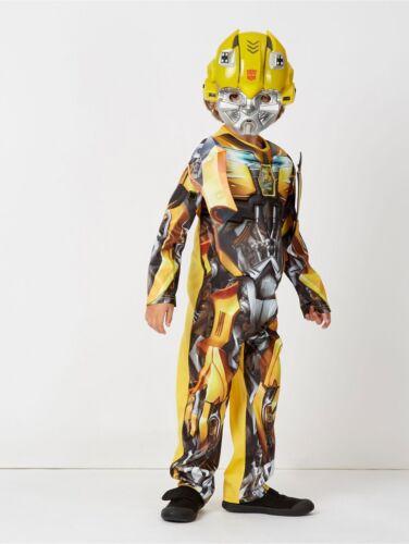 Transformers Bumblebee Fancy Dress Costume amovible épaulettes 3-10 ans