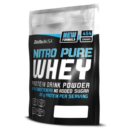 Biotech USA Nitro Pure Whey 454g Protein Strawberry Protein 454g Complex FREE P&P 7c9091