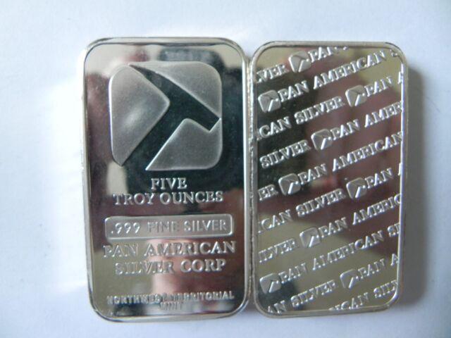 1 5 Oz 999 Fine Silver Bar Pan American Corp North