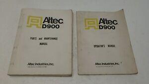ALTEC D900 DERRICK PARTS & MAINTENANCE & OPERATORS MANUAL
