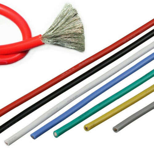 Silicone Wire 14 16 18 20 24 26 AWG Soft Cable Flexible Tinned Copper 5M 10M 20M