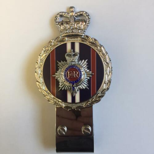 Gaunt style Chromed Brass Car Badge - ROYAL CORPS OF TRANSPORT REGIMENT - B4.004